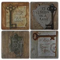 Oscar Stone Old Keys. Bardak Altlığı
