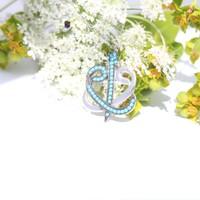 Gümüş Elif Vav tasarım Bayan Kolyesi