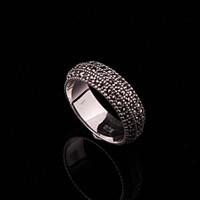 Sümer Telkari Markazit Taşlı Gümüş Modern Alyans 80