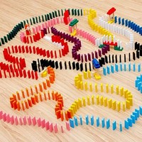 Blueway Ahşap 360 Parça Domino Taşı Eğlence Oyunu