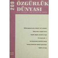Özgürlük Dünyası Aylık Sosyalist Teori ve Politika Dergisi Sayı : 209 - Eylül 2009