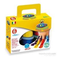 Carioca Yıkanabilir Parmak Boyası - 6 Renk X 80 Gr