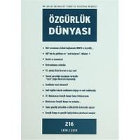Özgürlük Dünyası Aylık Sosyalist Teori ve Politika Dergisi Sayı : 216 - Ekim 2010