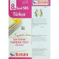 8. Sınıf SBS Türkçe Çek Kopar Yaprak Test (40 Adet)