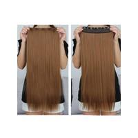 Hairens® Yarım Ay Gerçek Doğal Çıt Çıt Saç Açık Kahverengi 150gr.