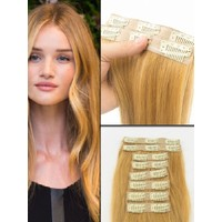 Hairens® 8 Parça Gerçek Doğal Çıt Çıt Saç Sıcak Sarı 170gr.