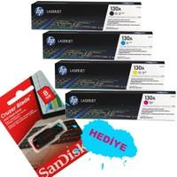 Hp 130A Orijinal Toner Seti + Sandisk 8GB Usb Bellek Hediye
