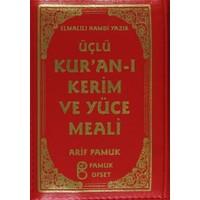 Üçlü Kur'an-ı Kerim ve Yüce Meali Kılıflı (Üçlü-010)