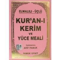 Elmalılı - Üçlü Kur'an-ı Kerim ve Yüce Meali (Çanta Boy - Kılıflı - Üçlü-011)