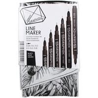 Derwent Graphik Line Maker 6'Lı Set Black Dw2302206