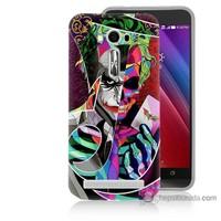 Bordo Asus Zenfone 2 Laser 5.0 Kapak Kılıf Renkli Joker Baskılı Silikon