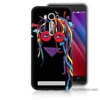 Bordo Asus Zenfone 2 Laser 5.0 Kapak Kılıf Renkli Kız Baskılı Silikon