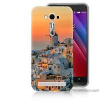Bordo Asus Zenfone 2 Laser 5.0 Kapak Kılıf Manzara Yunanistan Baskılı Silikon