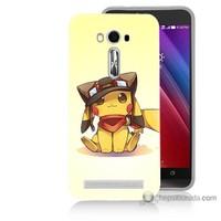 Bordo Asus Zenfone 2 Laser 5.5 Kapak Kılıf Pokemon Baskılı Silikon