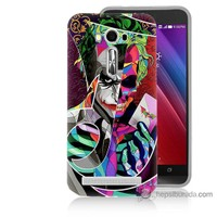 Bordo Asus Zenfone 2 Laser 5.5 Kapak Kılıf Renkli Joker Baskılı Silikon