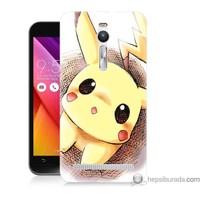 Bordo Asus Zenfone 2 Kapak Kılıf Pokemon Resim Baskılı Silikon