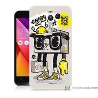 Bordo Asus Zenfone 2 Kapak Kılıf Teyp Adam Baskılı Silikon