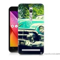 Bordo Asus Zenfone 2 Kapak Kılıf Klasik Araba Baskılı Silikon