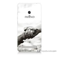 Bordo Asus Zenfone 5 Kapak Kılıf Hayat Yolu Baskılı Silikon