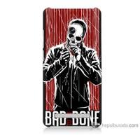 Bordo Asus Zenfone 6 Kapak Kılıf Bad Bone Baskılı Silikon