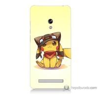Bordo Asus Zenfone 5 Lite Kapak Kılıf Pokemon Baskılı Silikon