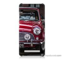 Bordo Asus Zenfone 5 Lite Kapak Kılıf Kırmızı Klasik Araba Baskılı Silikon