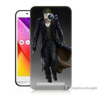 Bordo Asus Zenfone Max Kapak Kılıf Joker Klasik Baskılı Silikon