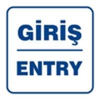 Kolay İşaretler Giriş-Entry A1-138 12X12 Cm