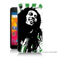 Bordo Casper Via V3 Kapak Kılıf Bob Marley Soft Baskılı Silikon
