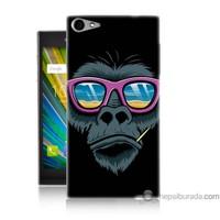 Bordo Casper Via V9 Kapak Kılıf Gözlüklü Maymun Baskılı Silikon