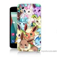 Bordo General Mobile Discovery 2 Mini Kapak Kılıf Pokemon Baskılı Silikon