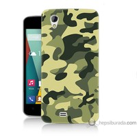 Bordo General Mobile Discovery 2 Mini Kapak Kılıf Kamuflaj Baskılı Silikon