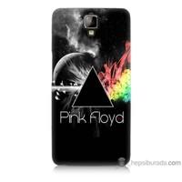 Bordo General Mobile Discovery 2 Plus Kapak Kılıf Pink Floyd Baskılı Silikon