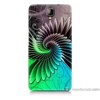 Bordo General Mobile Discovery 2 Plus Kapak Kılıf Renkli Kanatlar Baskılı Silikon