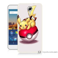 Bordo General Mobile Discovery 4g Andorid One Kapak Kılıf Pokemon Topu Baskılı Silikon