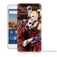 Bordo General Mobile Discovery 4g Andorid One Kapak Kılıf Joker Ask Baskılı Silikon