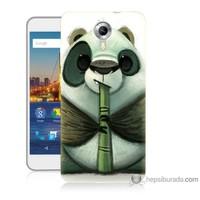 Bordo General Mobile Discovery 4g Andorid One Kapak Kılıf Flütlü Panda Baskılı Silikon