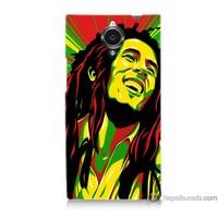 Bordo General Mobile Discovery Elite Kapak Kılıf Bob Marley Baskılı Silikon