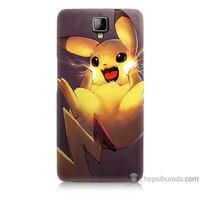 Bordo General Mobile Discovery 2 Kapak Kılıf Elektro Pikachu Baskılı Silikon