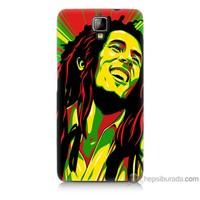 Bordo General Mobile Discovery 2 Kapak Kılıf Bob Marley Baskılı Silikon