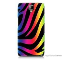 Bordo General Mobile Discovery 2 Kapak Kılıf Renk Cümbüşü Baskılı Silikon
