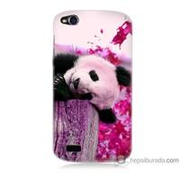 Bordo General Mobile Discovery Kapak Kılıf Sevimli Panda Baskılı Silikon