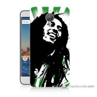 Bordo General Mobile Gm5 Plus Kapak Kılıf Bob Marley Soft Baskılı Silikon