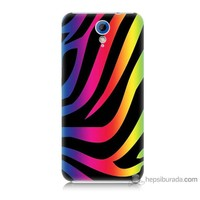 Bordo Htc Desire 620 Kapak Kılıf Renk Cümbüşü Baskılı Silikon