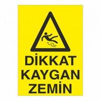 """Modülerteknik """"Dikkat Kaygan Zemin"""" 25X35cm"""