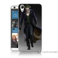 Bordo Htc Desire 626 Kapak Kılıf Joker Klasik Baskılı Silikon
