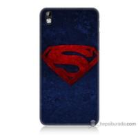 Bordo Htc Desire 816 Kapak Kılıf Süpermen Baskılı Silikon