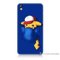 Bordo Htc Desire 816 Kapak Kılıf Uykucu Pikachu Baskılı Silikon