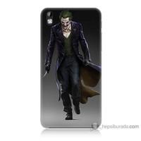 Bordo Htc Desire 816 Kapak Kılıf Joker Klasik Baskılı Silikon