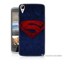 Bordo Htc Desire 828 Kapak Kılıf Süpermen Baskılı Silikon